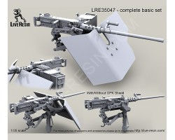 LRE35047 M2 Browning .50 Caliber Machine Gun on MK93 Machine Gun Mount with Bearing Sleeve pedestal