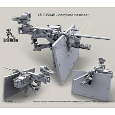 LRE35048 M2 Browning .50 Caliber Machine Gun on MK93 Machine Gun Mount with heavy pedestal