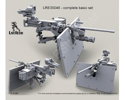LRE35048 M2 Browning .50 Caliber Machine Gun on MK93 Machine Gun Mount with heavy pedestal