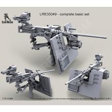 LRE35049 M2 Browning .50 Caliber Machine Gun on MK93 Machine Gun Mount with heavy pedestal