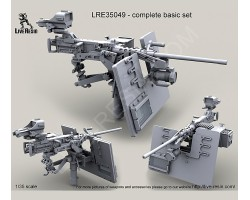 LRE35049 M2 Browning .50 Caliber Machine Gun on MK93 Machine Gun Mount with heavy pedestal