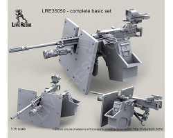 LRE35050 M2 Browning .50 Caliber Machine Gun on MK93 Machine Gun Mount
