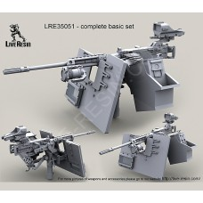 LRE35051 M2 Browning .50 Caliber Machine Gun on MK93 Machine Gun Mount with heavy pedestal