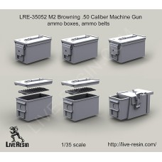 LRE35052 M2 Browning .50 Caliber Machine Gun ammo boxes, ammo belts