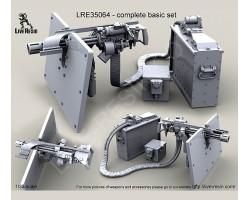 LRE35064 M134D Minigun with picatinny top rail on high adjustable pedestal