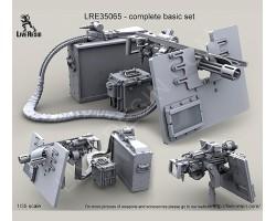 LRE35065 M134D Minigun with picatinny top rail on high adjustable pedestal