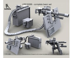 LRE35066 M134D Minigun with M89A Surefire HellFighter Mount Assembly on heavy pedestal