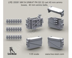 LRE35081 MK19-3/MK47 PA120 32 cart ammo boxes, ammo belts
