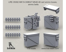 LRE35082 MK19-3/MK47 M548 48 cart ammo boxes, ammo belts