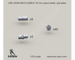 LRE35084 MK19-3/MK47 40 mm grenades, spent shells