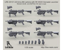 LRE35101 US Army M4 carbine with HK M320 Grenade Launcher Module
