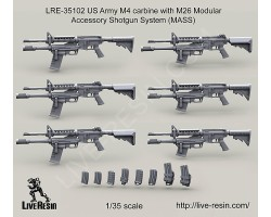 LRE35102 US Army M4 carbine with M26 Modular Accessory Shotgun System