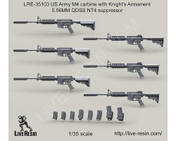 LRE35103 US Army M4 carbine with Knight's Armament 5.56MM QDSS NT4 suppressor