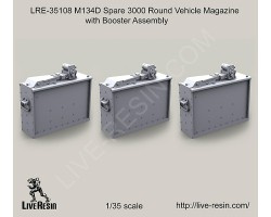 LRE35108 M134D Spare 3000 Round Vehicle Magazine with Booster Assembly and belts