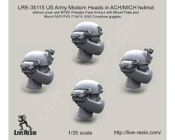 LRE35115 US Army Modern Heads in ACH/MICH helmet without cover and MTEK Predator Face Armour