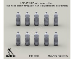 LRE35126 Plastic water bottles (this model is made by transparent resin)
