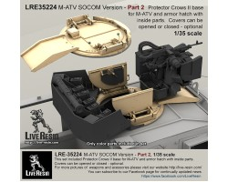 LRE35224 M-ATV SOCOM Version upgrade. Part 2 - Protector Crows II base for M-ATV and armor hatch with inside parts.