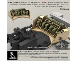 LRE35225   M-ATV SOCOM Version upgrade. Part 3 - Part 3 Armour cradle with ammo.
