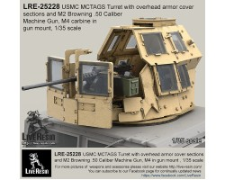 LRE35228 MCTAGS - Marine Corps Transparent Armored Gun Shield USMC Turret with overhead armor cover sections