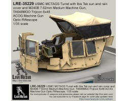 LRE35229 MCTAGS - Marine Corps Transparent Armoured Gun Shield USMC Turret with Ibis Tek sun and rain cover