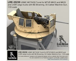 LRE35230 MCTAGS - Marine Corps Transparent Armoured Gun Shield USMC Turret for MTVR MK23 and MK25 and LVSR cargo trucks.