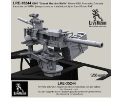 "LRE35244 GMG ""Granat Machine Waffe"" 40mm H&K Automatic Grenade Launcher on WMIK (weapons mount installation kit) for Land Rover RAF"