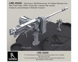 LRE35245 M2HB Browning .50 Calibre Machine Gun with flash hider tankversion