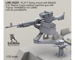 LRE35251 M240G on PLATT Swing mount with U.S. Marine Corps medium machine gun with Trijicon TA648MGO