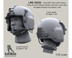 LRE35252 HGU/56P HGU-56/P Rotary Wing Aircrew Helmet System with pilot open face