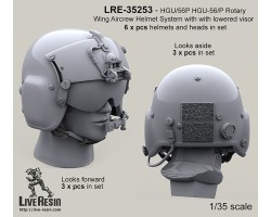 LRE35253 HGU/56P HGU-56/P Rotary Wing Aircrew Helmet System with pilot with lowered visors