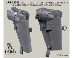 LRE35259 M1911 - M1911A1 .45 Automatic Colt Pistol in Shoulder holster