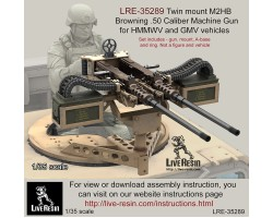 LRE35289 Twin mount M2 Browning .50 Caliber Machine Gun for HMMWV and GMV vehicles
