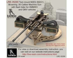 LRE35290 Twin mount M2E2 (M2A1) Browning .50 Calibre Machine Gun with flash hider