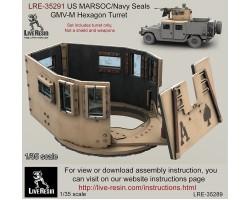 LRE35291 US MARSOC/Navy Seals GMV-M Six Grain Turret