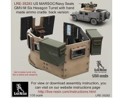 LRE35293 US MARSOC/Navy Seals GMV-M Six Grain Turret with handmade ammo cradle