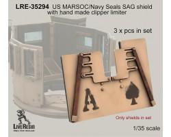 LRE35294 US MARSOC/Navy Seals SAG shield with handmade clipper limiter