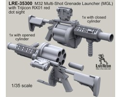 LRE35300 M32 Multi-Shot Grenade Launcher (MGL) with Trijicon RX01 red dot sight