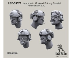 LRE35329 Heads set - Modern US Army Special Forces/MARSOC