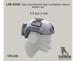 LRE35330 Ops-Core Maritime High Cut Ballistic Helmet System set