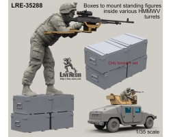 LRE35288 Boxes to mount standing figures inside various HMMWV turrets