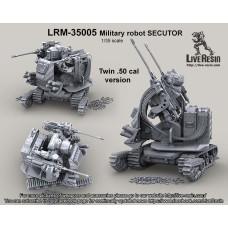 LRM35005 Military robot Secutor II. Military robot, Twin .50 Cal version.