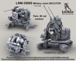 LRM35005 Military robot Secutor II. Military robot, Twin .50 Cal version.