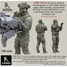 LRM35014 US Army Special Forces gunner in JPC plate carrier