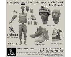 LRM35006 USMC soldier figure for MCTAGS and LAV-25 turrets
