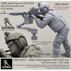 LRM35007 USMC tanker figure for MCTAGS and LAV-25 turrets with CVC helmet