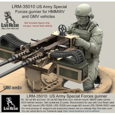 LRM35010 US Army Special Forces gunner for .50 cal M2 and twin .50 cal M2 Machine Gun vehicle mount.
