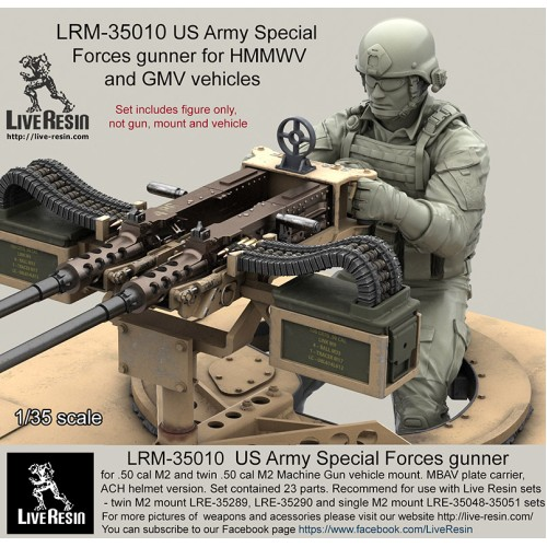 lrm35010 us army special forces gunner for 50 cal m2 and twin 50