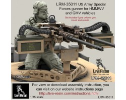 LRM35011 US Army Special Forces gunner for .50 cal M2 and twin .50 cal M2 Machine Gun vehicle mount.