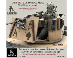 LRM35012 US MARSOC Marine Special Operations Batalion/ Navy Seals GMV-M turret gunner.