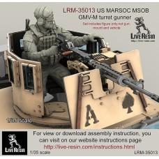 LRM35013 US MARSOC Marine Special Operations Battalion/ Navy Seals GMV-M turret gunner.